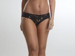 Bikini Encaje Y Lycra Negro 1633